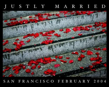 justly married poster